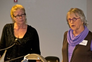 WA SDA representative Barbara Matthews introduces Jane Dunnewold