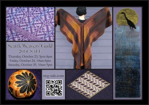 Seattle Weavers' Guild 2014 Sale postcard, submitted by Gay Jensen Cropped