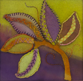 Felt Leaves by Christina Fairley Erickson
