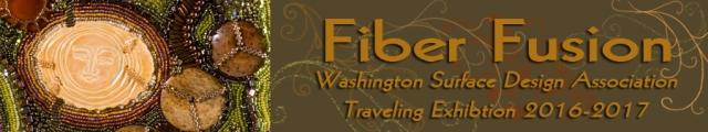 "Fiber Fusion Exhibition- artwork ""Fertile Feilds"" detail by Larkin Van Horn"