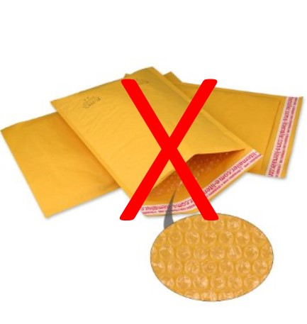 no bubble mailers
