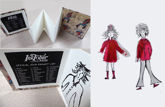 05-Tesi s Accordion book and drawings