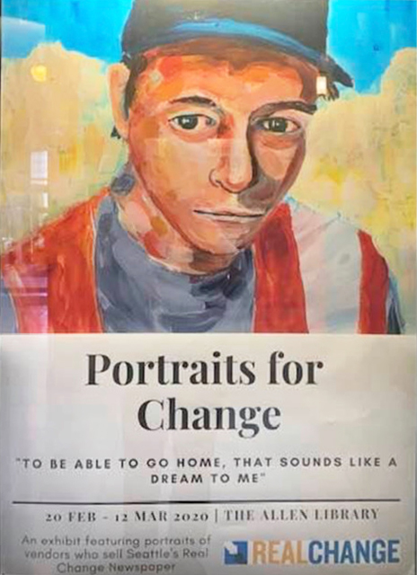 Portraits for change poster