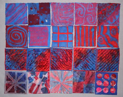 violet protest 20 8 x 8 squares